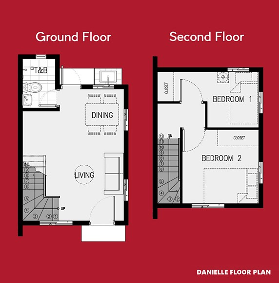 Danielle Floor Plan House and Lot in Butuan
